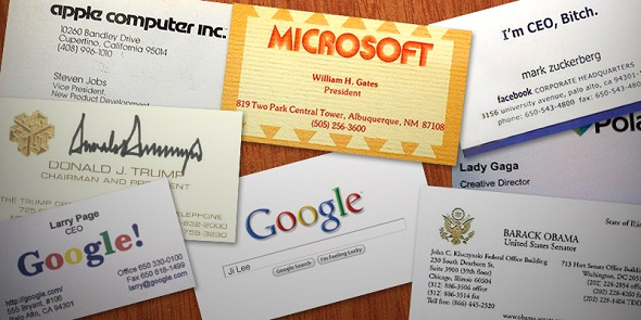 Famous Business Cards