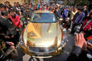 Gold car in China