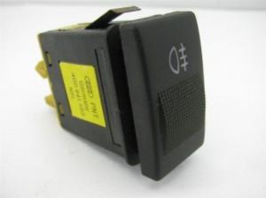 Rear fog lights button