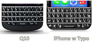 Blackberry VS Typo