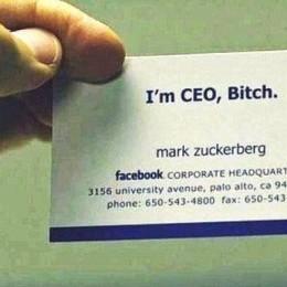 Zuckerberg business card