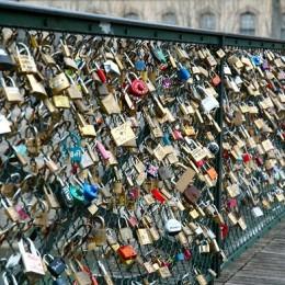 Love locks on Pont de Arts