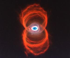 A hourglass nebula