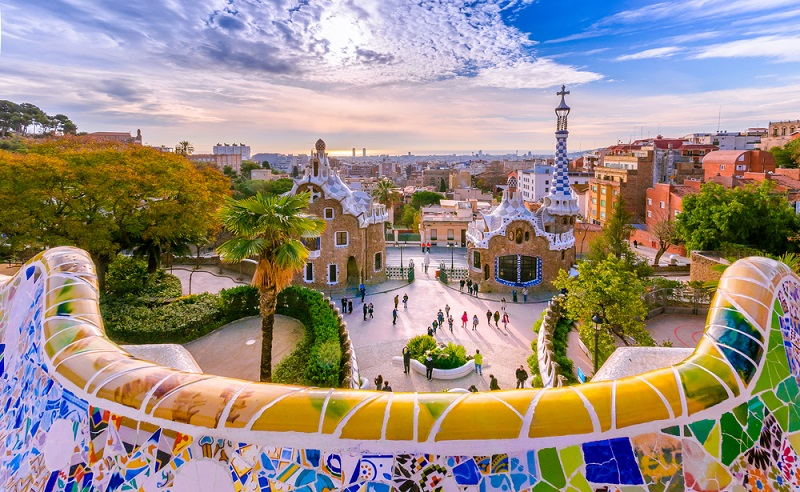 View,Of,The,City,From,Park,Guell,In,Barcelona