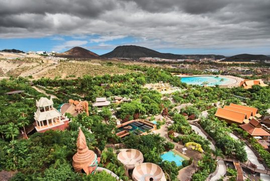 Siam,Park,Aerial,View.,Water,Park,In,Costa,Adeje,,Tenerife,