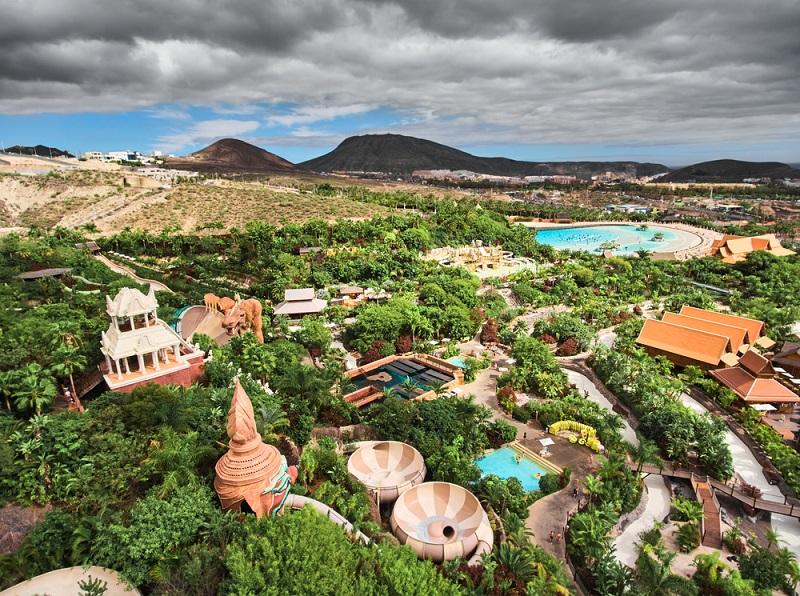 Siam,Park,Aerial,View.,Water,Park,In,Costa,Adeje,,Tenerife,
